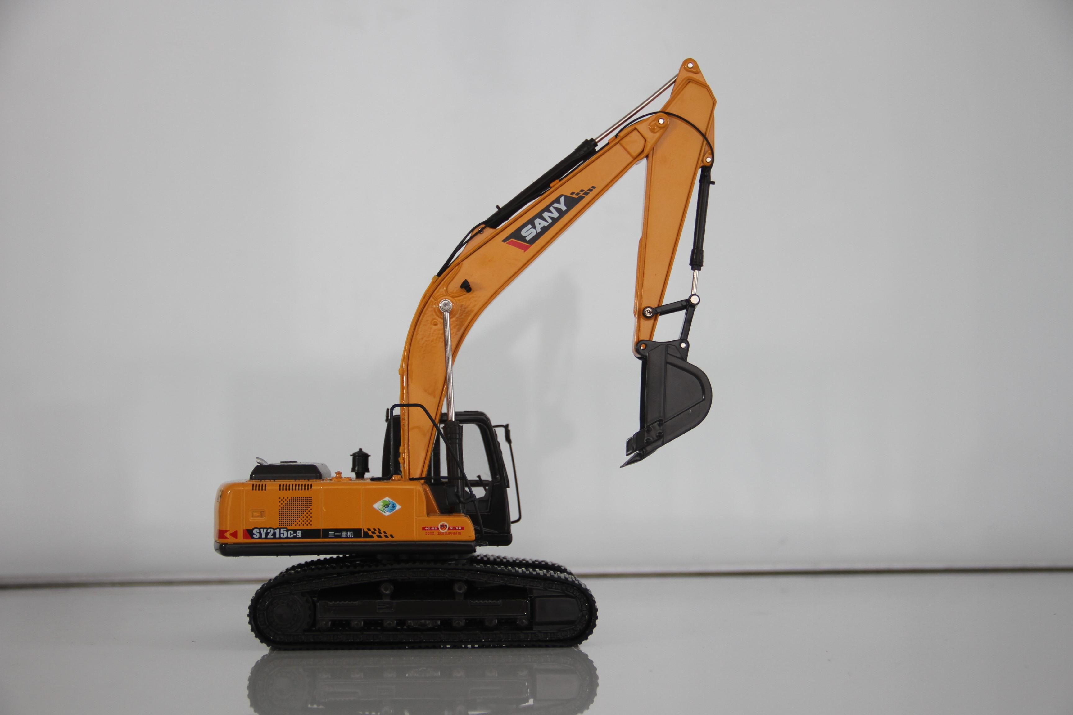 三一挖掘机215c-9合金模型-三一挖掘机价格表 斗山挖掘机图片